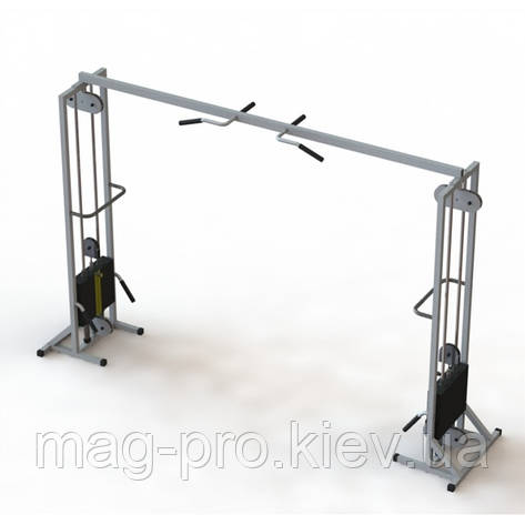 Тренажер для кінезітерапії для будинку МТБ-2 стеки 2х60 кг, рама 40х40 мм, фото 2