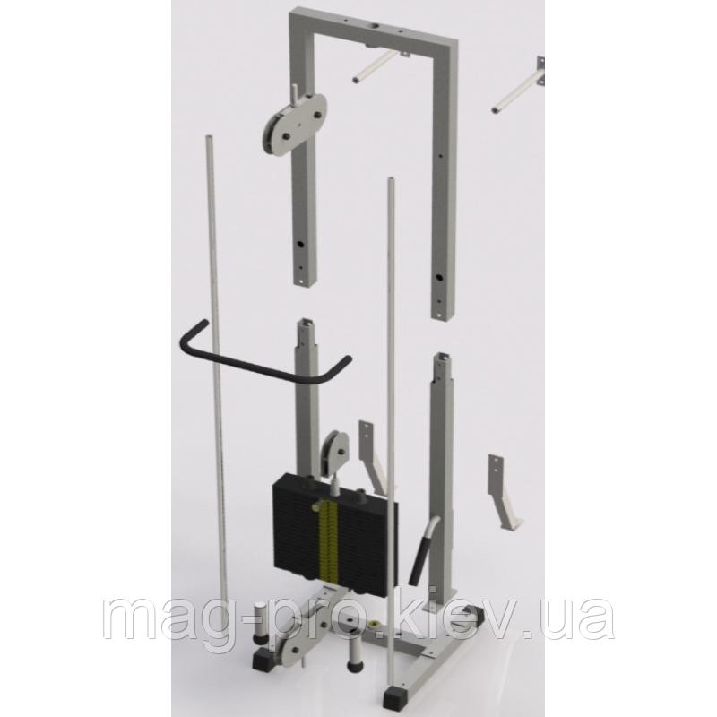 Тренажер для кинезитерапии разборной стек 105кг, рама 40х40 мм