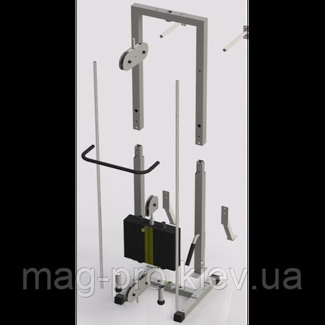 Тренажер для кинезитерапии разборной стек 105кг, рама 40х40 мм, фото 2