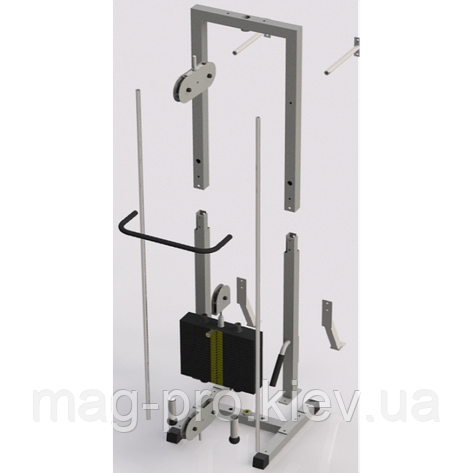 Тренажер для кінезітерапії розбірної стек 105кг, рама 40х40 мм, фото 2