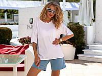 Трикотажные шорты женские с карманами джинс