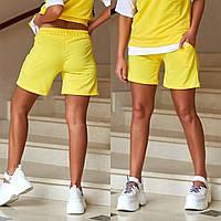Трикотажные шорты женские с карманами батал, фото 1