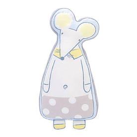 Мягкая игрушка - подушка Белый мышонок, 60 см Metoys