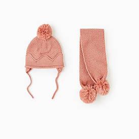 Шапка + шарф для дівчинки зимова Блиск Berni Kids (44 см)