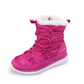 Чоботи для дівчинки Рожеві смужки Uovo (30)