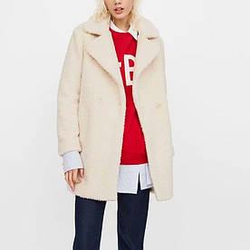 Двобортне Пальто жіноче з штучного хутра White warmth Berni Fashion (S)