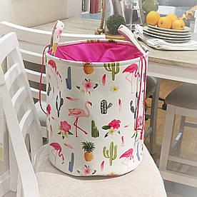 Корзина для игрушек, белья, хранения на завязках Фламинго Berni Home 1418418910