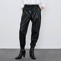 Брюки-джоггеры женские из искусственной кожи Trendy Berni Fashion (M)
