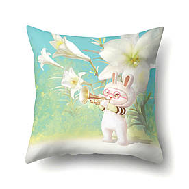 Подушка декоративная Кролик - музыкант 45 х 45 см Berni Home