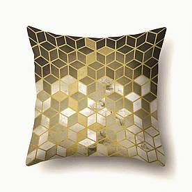 Подушка декоративная Золотые кубики 45 х 45 см Berni Home