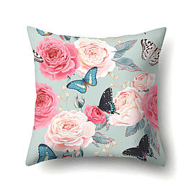 Подушка декоративная Бабочки и розы 45 х 45 см Berni Home