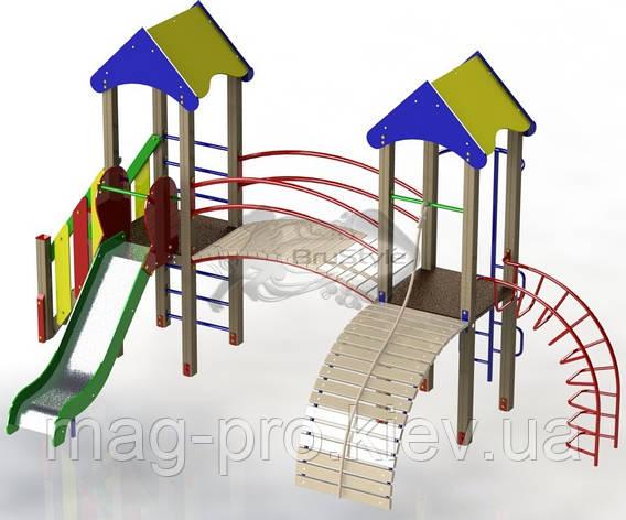 """Дитячий ігровий комплекс """"Дві вежі"""" BruStyle DIO702, фото 2"""