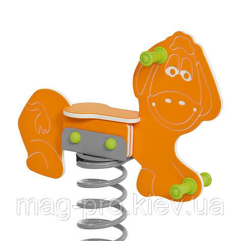 """Качалка на пружине """"Осел"""" оранжевый  DIOS1120, фото 2"""