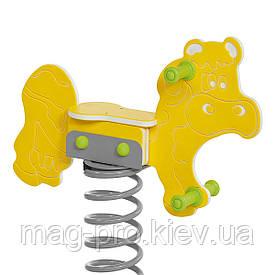 """Качалка на пружині """"Корова"""" жовтий BruStyle DIOS1114"""