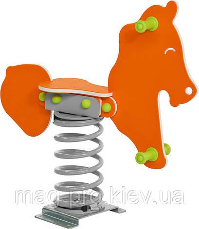 """Качалка на пружине """"Конь"""" оранжевый BruStyle DIOS1112, фото 2"""