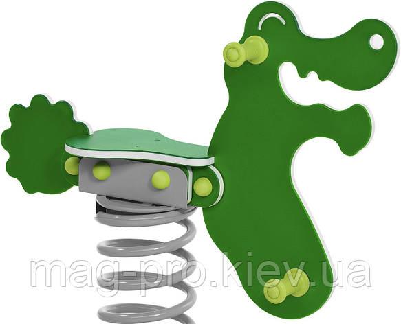 """Качалка на пружині """"Крокодил"""" Зелений BruStyle DIOS1119, фото 2"""