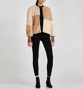Кожушок жіночий з комбінованого штучного хутра Fox Berni Fashion (S)