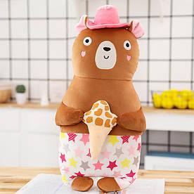 М'яка іграшка - подушка Пляжний ведмедик, 50 см Berni Kids