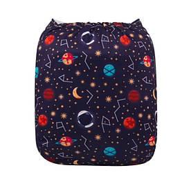 Подгузник многоразовый c вкладышем Галактика Berni Kids (3-15 кг)