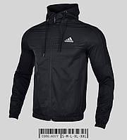 Куртка мужская ветровка Adidas демисезонная с капюшоном весна осень