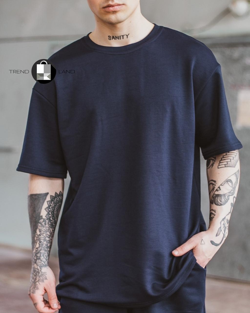 Чоловіча літня оверсайз футболка Player Oversize Dark Blue темно-синього кольору
