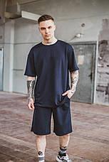 Чоловіча літня оверсайз футболка Player Oversize Dark Blue темно-синього кольору, фото 2