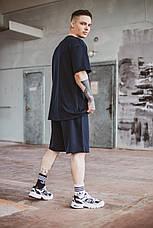 Чоловіча літня оверсайз футболка Player Oversize Dark Blue темно-синього кольору, фото 3