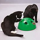 ОПТ Игрушка для кота интерактивная напольная со звуком и светом Поймай мышку Pop and Play, фото 4