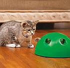 ОПТ Игрушка для кота интерактивная напольная со звуком и светом Поймай мышку Pop and Play, фото 5