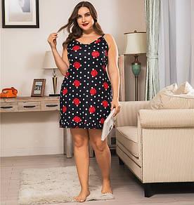 Сорочка нічна жіноча Luxury rose Berni Fashion PLUS (XL)