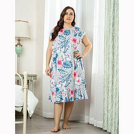 Сорочка нічна жіноча Tropical flower Berni Fashion PLUS (XL)