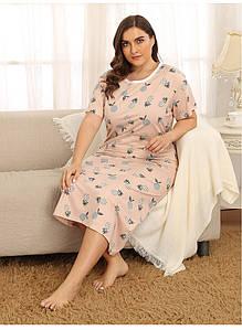 Сорочка нічна жіноча Pineapple flavor Berni Fashion PLUS (XL)