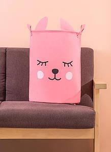 Корзина для игрушек, белья, хранения Pink fox Berni Home