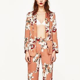 Блейзер женский удлиненный с цветочным узором Flowering Berni Fashion (One Size)