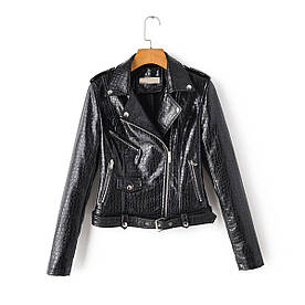 Куртка жіноча з штучної шкіри з тисненням під алігатора Alligator Berni Fashion (L)