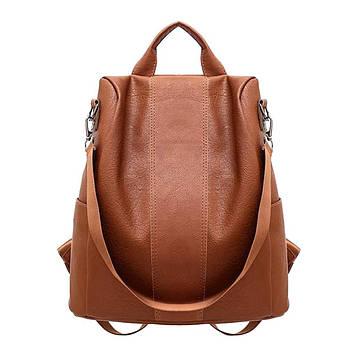 Жіночий рудий рюкзак код 3-415