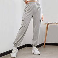Брюки-джоггеры женские из трикотажной ткани Gray comfort Berni Fashion (S)