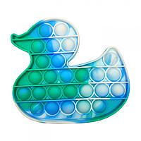 """Игрушка-антистресс """"POP-IT"""" PPT-D(Blue-Green) Уточка Синие-Зелёный"""