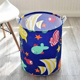 Корзина для игрушек, белья, хранения Funny fish Berni Home