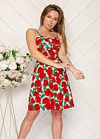 """Сарафан жіночий літній на бретелях з принтом розміри 42-48 (2цв) """"SVITANOK"""" недорого від прямого постачальника"""