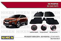 Peugeot 3008 2016-2021 Резиновые коврики Niken 3D