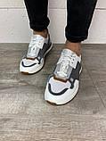Кросівки біло-сірі 21491, фото 2