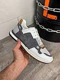 Кросівки біло-сірі 21491, фото 3