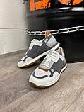 Кросівки біло-сірі 21491, фото 4