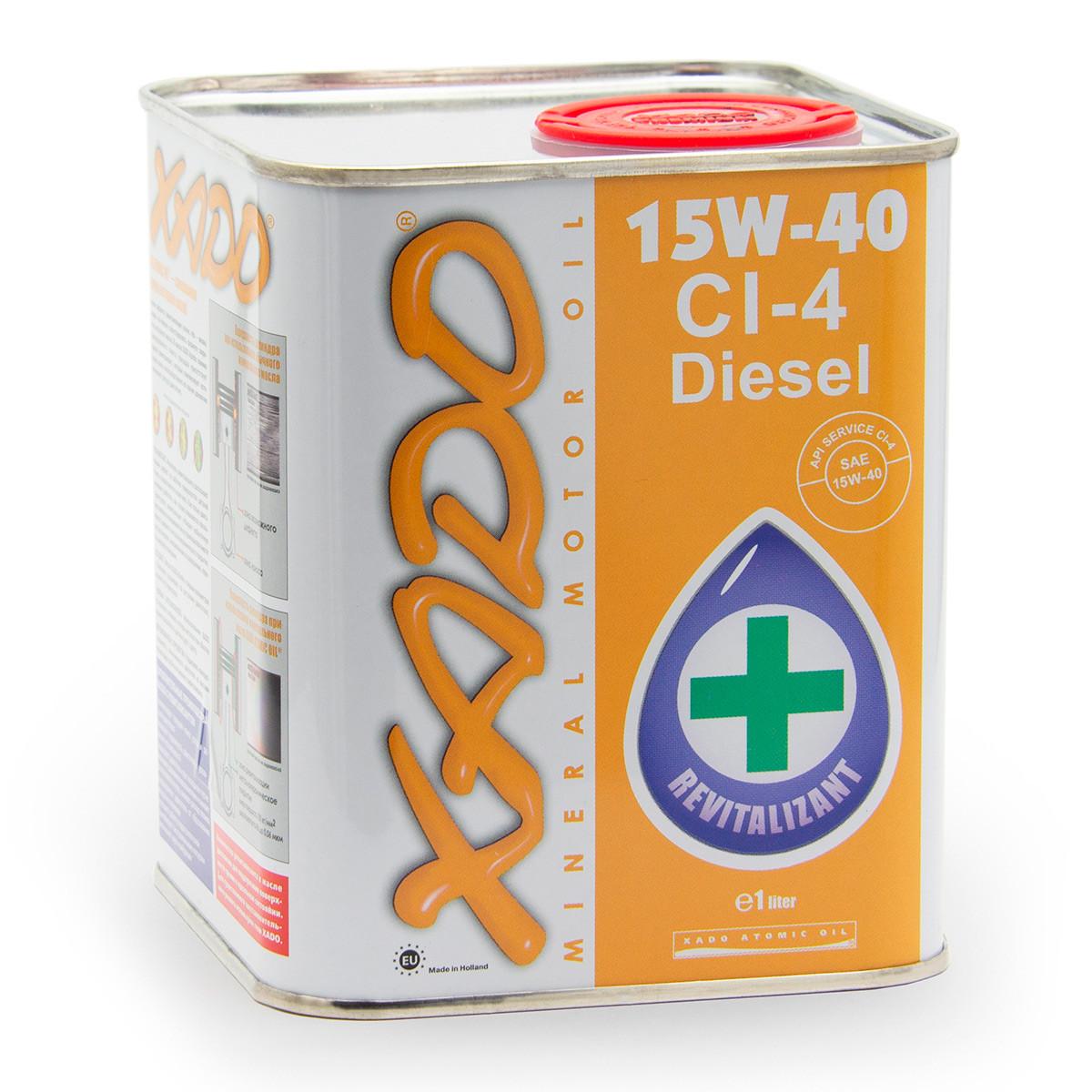 Мінеральне моторне масло XADO Atomic Oil 15W-40 CI-4 Diesel