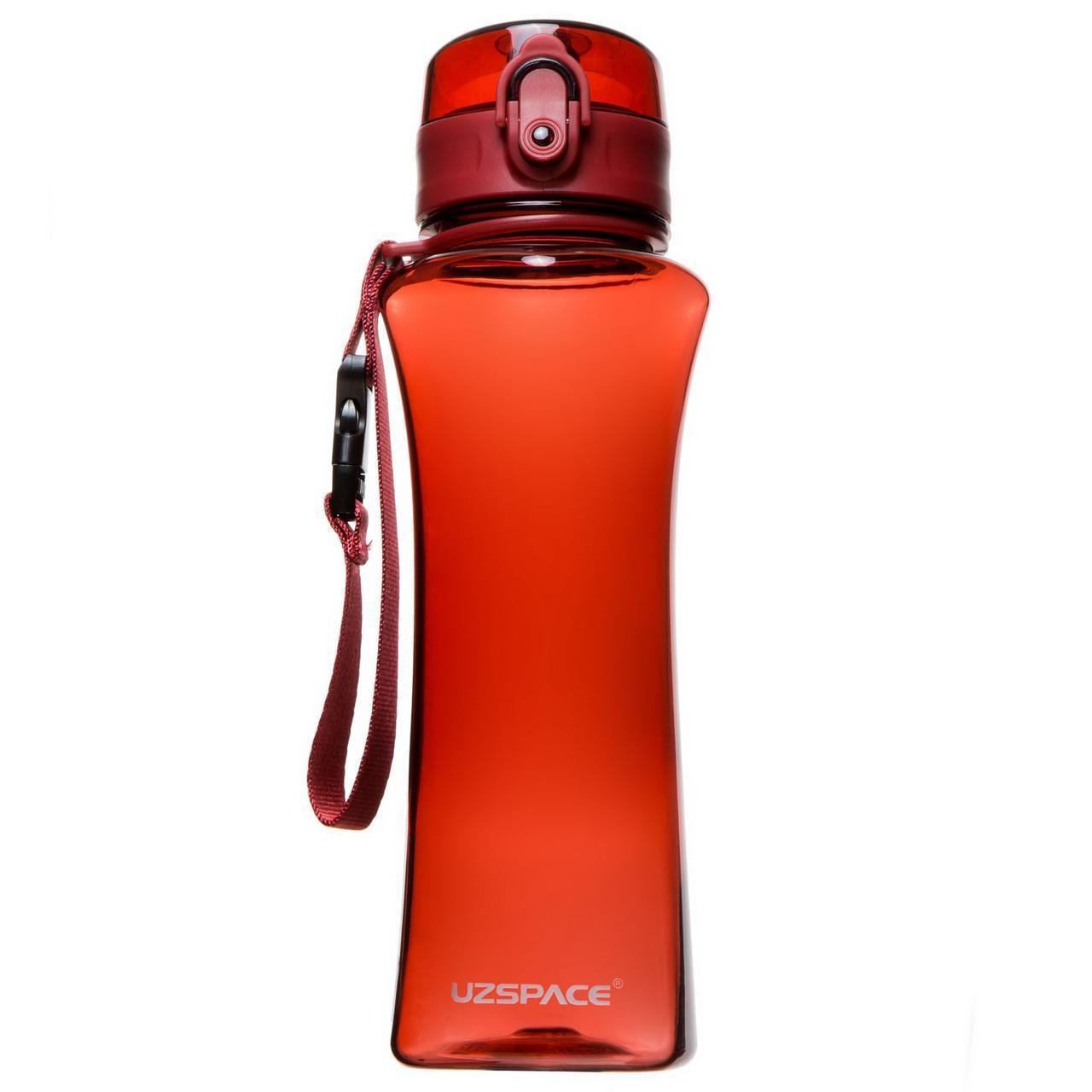Пляшка фляга спортивна для води UZspace 6006 500 мл Червоний (gr_012068)