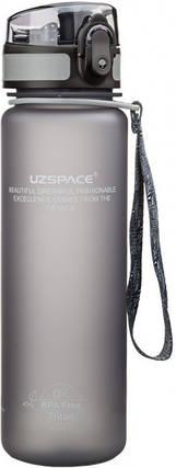 Пляшка фляга спортивна для води UZspace 3026 500 мл Сірий (gr_012028), фото 2