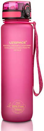 Пляшка фляга спортивна для води UZspace 3038 1000 мл Рожевий (gr_012040), фото 2