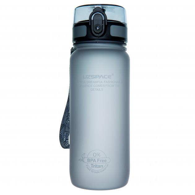Пляшка фляга спортивна для води UZspace 3037 650 мл Сірий (gr_012033)