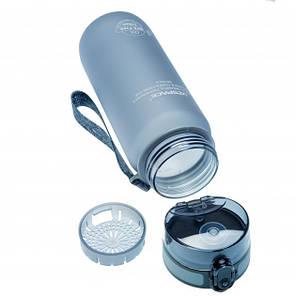 Бутылка фляга спортивная для воды UZspace 3037 650 мл Серый (gr_012033), фото 2